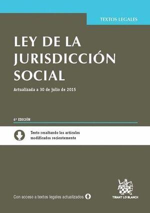 LEY DE LA JURISDICCIÓN SOCIAL 6ª EDICIÓN 2015