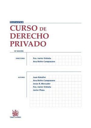 CURSO DE DERECHO PRIVADO 18ª EDICIÓN 2015