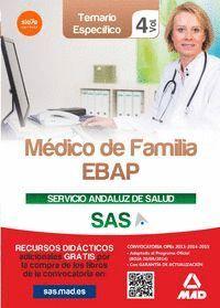 MÉDICO DE FAMILIA EBAP DEL SERVICIO ANDALUZ DE SALUD. TEMARIO ESPECÍFICO VOL 4
