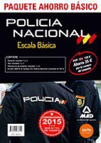 PAQUETE AHORRO BÁSICO ESCALA BÁSICA POLICÍA NACIONAL. (TEMARIO VOLUMEN 1 Y 2, TEST VOLUMEN 1 Y 2, SIMULACROS 1 Y 2, ACCESO CAMPUS ORO) AHORRA 35 ?