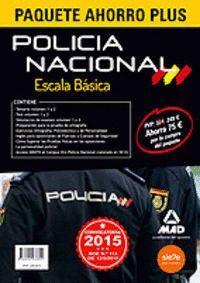 PAQUETE AHORRO PLUS ESCALA BÁSICA POLICÍA NACIONAL. (TEMARIOS 1 Y 2, TEST 1 Y 2, SIMULACROS 1 Y 2, PREPARACIÓN PRUEBA ORTOGRAFÍA, EJERCICIOS ORTOGRAFÍ