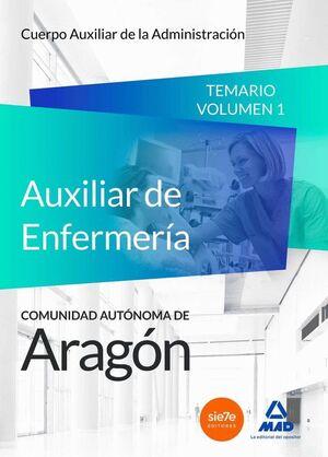 CUERPO AUXILIAR DE LA ADMINISTRACIÓN DE LA COMUNIDAD AUTÓNOMA DE ARAGÓN, ESCALA AUXILIAR DE ENFERMERÍA, AUXILIARES DE ENFERMERÍA.