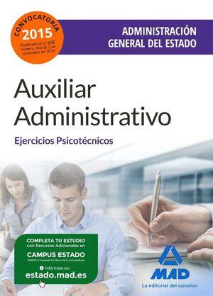 AUXILIAR ADMINISTRATIVO DE LA ADMINISTRACIÓN GENERAL DEL ESTADO. EJERCICIOS PSICOTÉCNICOS