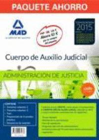 PAQUETE AHORRO AUXILIO JUDICIAL (TEMARIO VOLUMEN 1 Y 2, TEST, PREPARACIÓN PRUEBA PRÁCTICA, SIMULACROS EXAMEN Y ACCESO CAMPUS ORO) AHORRA 63 ?