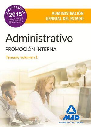 ADMINISTRATIVO DE LA ADMINISTRACIÓN GENERAL DEL ESTADO (PROMOCIÓN INTERNA).
