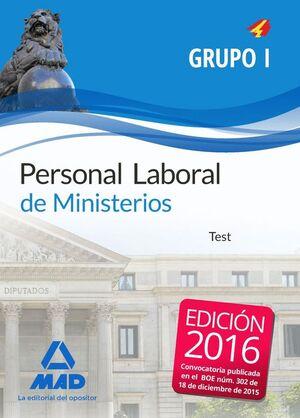 PERSONAL LABORAL DE MINISTERIOS GRUPO I. TEST