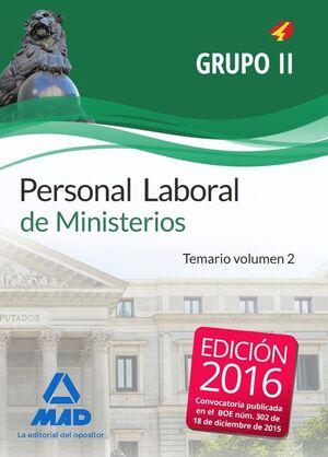 PERSONAL LABORAL DE MINISTERIOS GRUPO II.