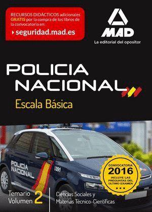 POLICÍA NACIONAL ESCALA BÁSICA. TEMARIO VOLUMEN 2