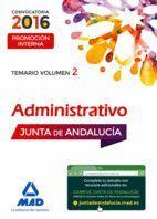 ADMINISTRATIVOS DE LA JUNTA DE ANDALUCÍA PROMOCIÓN INTERNA. VOLUMEN 2