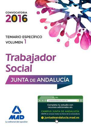 TRABAJADORES SOCIALES DE LA JUNTA DE ANDALUCÍA. TEMARIO ESPECÍFICO VOLUMEN 1