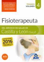FISIOTERAPEUTA DEL SERVICIO DE SALUD DE CASTILLA Y LEÓN (SACYL).  TEMARIO VOLUMEN 4
