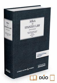 M&A IN SPANISH LAW (VERSIÓN INGLESA - LIBRO GÓMEZ ACEBO & POMBO - 1ª EDICIÓN) (PAPEL + E-BOOK) VERSI