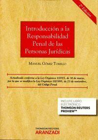 INTRODUCCIÓN A LA RESPONSABILIDAD PENAL DE LAS PERSONAS JURDICAS (PAPEL + E-BOOK)