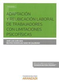 ADAPTACIÓN Y REUBICACIÓN LABORAL DE TRABAJADORES CON LIMITACIONES PSICOFSICAS (PAPEL + E-BOOK)