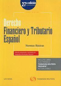 DERECHO FINANCIERO Y TRIBUTARIO ESPAÑOL. NORMAS BÁSICAS (PAPEL + E-BOOK) 2015