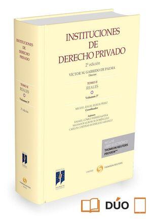 INSTITUCIONES DE DERECHO PRIVADO. TOMO II REALES. VOLUMEN 3º (PAPEL E-BOOK)