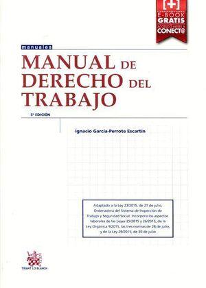 MANUAL DE DERECHO DEL TRABAJO 5ª EDICIÓN 2015
