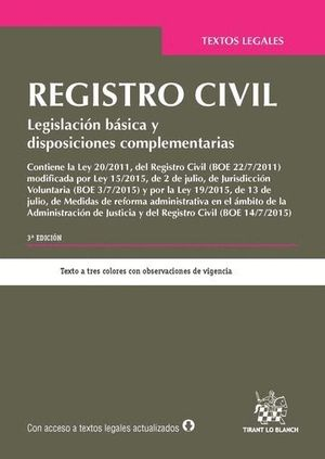 REGISTRO CIVIL 3ª EDICIÓN 2015