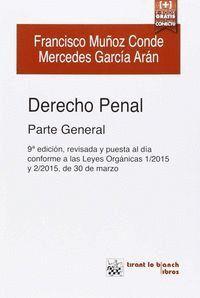 DERECHO PENAL PARTE GENERAL 9ª EDICIÓN 2015