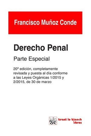 DERECHO PENAL PARTE ESPECIAL 20ª EDICIÓN 2015