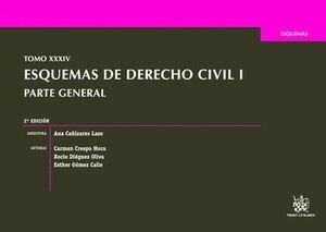 TOMO XXXIV ESQUEMAS DE DERECHO CIVIL I PARTE GENERAL 2ª EDICIÓN 2016
