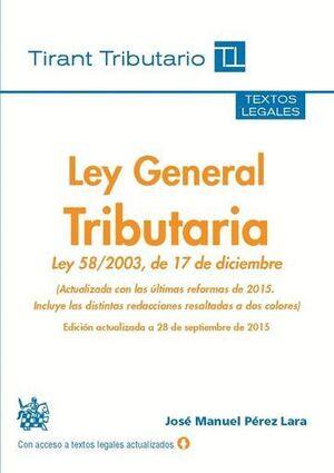 LEY GENERAL TRIBUTARIA 2015
