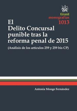 EL DELITO CONCURSAL PUNIBLE TRAS LA REFORMA PENAL DE 2015