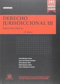 DERECHO JURISDICCIONAL III PROCESO PENAL 23ª EDICIÓN 2015