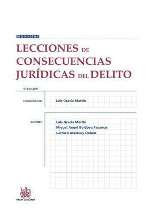 LECCIONES DE CONSECUENCIAS JURÍDICAS DEL DELITO 5ª EDICIÓN 2015