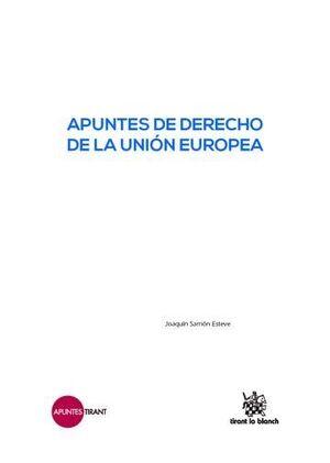 APUNTES DE DERECHO DE LA UNIÓN EUROPEA