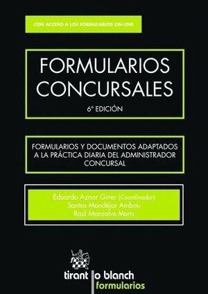FORMULARIOS CONCURSALES 6ª EDICIÓN 2016