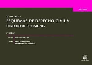 TOMO XXXVIII ESQUEMAS DE DERECHO CIVIL V DERECHO DE SUCESIONES 2ª EDICIÓN 2016