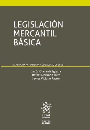 LEGISLACIÓN MERCANTIL BÁSICA 15ª EDICIÓN 2016