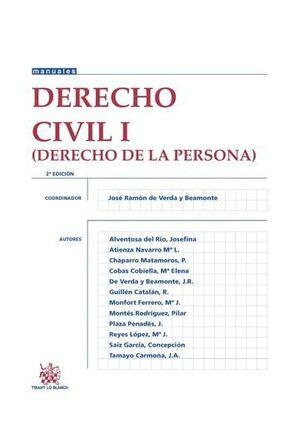 DERECHO CIVIL I (DERECHO DE LA PERSONA) 2ª EDICIÓN 2016