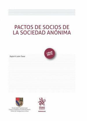 PACTOS DE SOCIOS DE LA SOCIEDAD ANÓNIMA