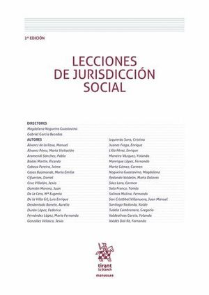 LECCIONES DE JURISDICCIÓN SOCIAL 2ª EDICIÓN 2016