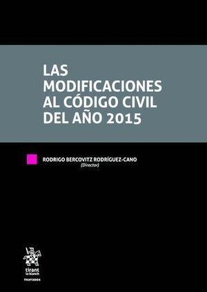 LAS MODIFICACIONES AL CÓDIGO CIVIL DEL AÑO 2015