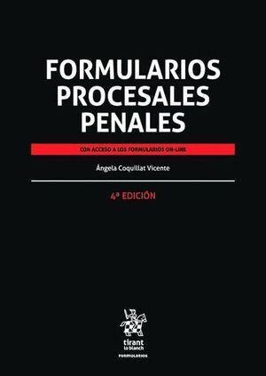 FORMULARIOS PROCESALES PENALES 4ª EDICIÓN 2016