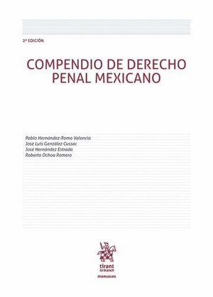 COMPENDIO DE DERECHO PENAL MEXICANO 2ª ED. 2016