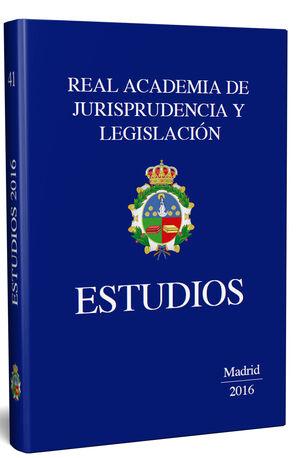 ESTUDIOS. REAL ACADEMIA DE LEGISLACIÓN Y JURISPRUDENCIA