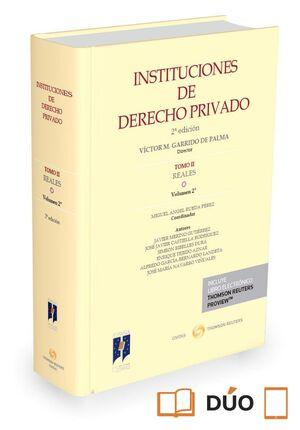 INSTITUCIONES DE DERECHO PRIVADO. TOMO II REALES. VOLUMEN 2º (PAPEL E-BOOK)