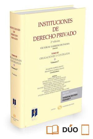 INSTITUCIONES DE DERECHO PRIVADO. TOMO III OBLIGACIONES Y CONTRATOS. VOLUMEN 2º (PAPEL E-BOOK)
