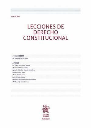 LECCIONES DE DERECHO CONSTITUCIONAL 5ª EDICIÓN 2016