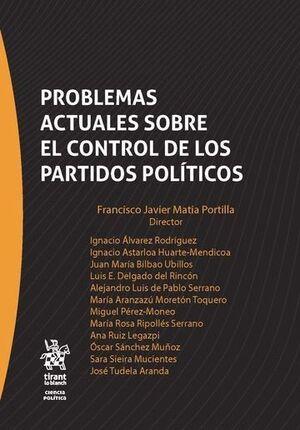 PROBLEMAS ACTUALES SOBRE EL CONTROL DE LOS PARTIDOS POLÍTICOS