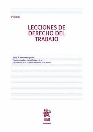 LECCIONES DE DERECHO DEL TRABAJO 9ª EDICIÓN 2016