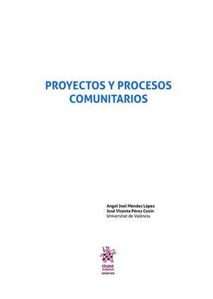 PROYECTOS Y PROCESOS COMUNITARIOS