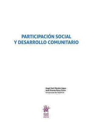 PARTICIPACIÓN SOCIAL Y DESARROLLO COMUNITARIO