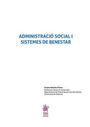 ADMINISTRACIÓ SOCIAL I SISTEMES DE BENESTAR