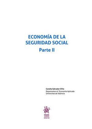 ECONOMÍA DE LA SEGURIDAD SOCIAL PARTE II