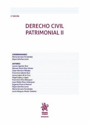 DERECHO CIVIL PATRIMONIAL II 2ª EDICIÓN 2016